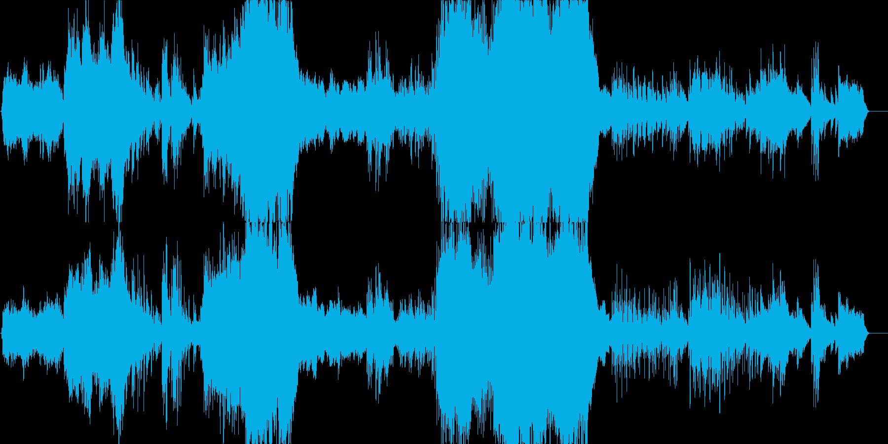 ドラマティックで感動的ピアノコンチェルトの再生済みの波形