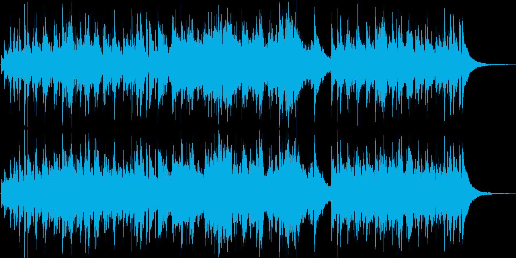 ゆったりとしたまどろみの癒し系ジャズの再生済みの波形