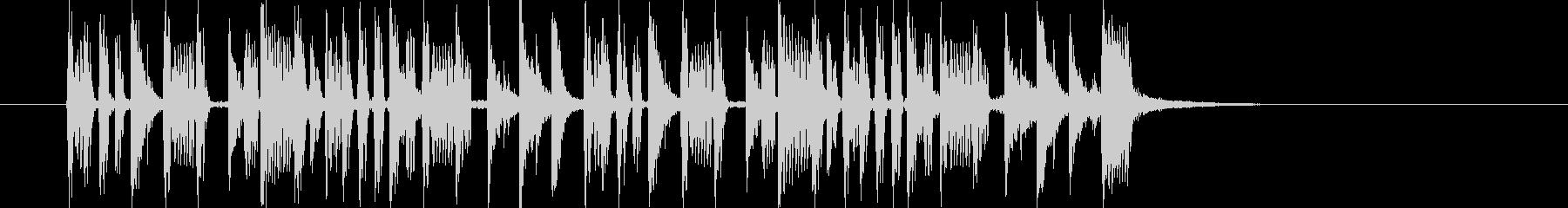 リズミカルでダークなビートジングルの未再生の波形