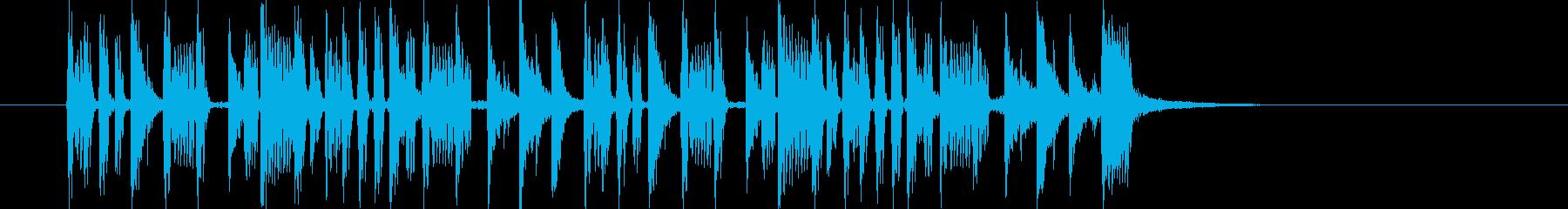 リズミカルでダークなビートジングルの再生済みの波形