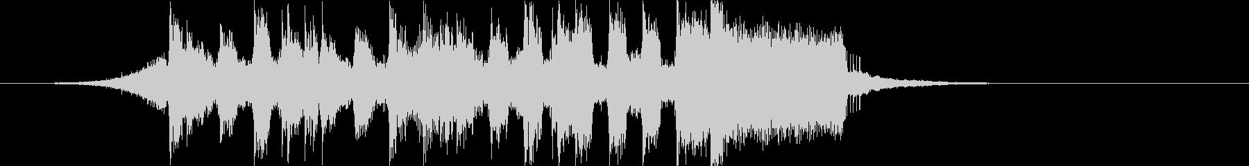 軽快ポップちょいロック4つ打ちジングルaの未再生の波形