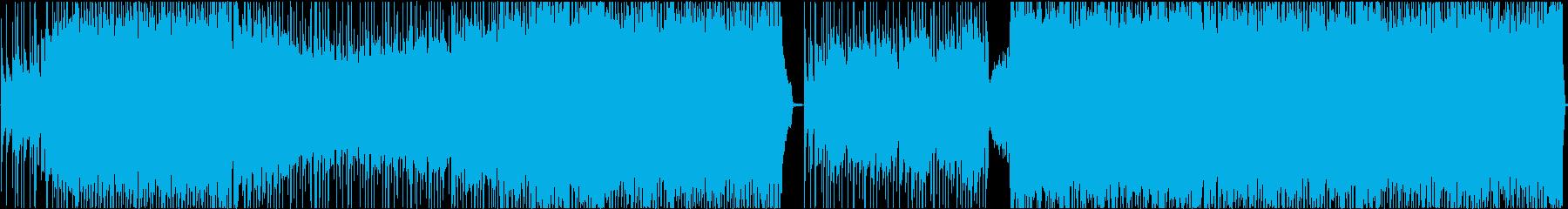 激しく侵食してくる重たいギターロックの再生済みの波形