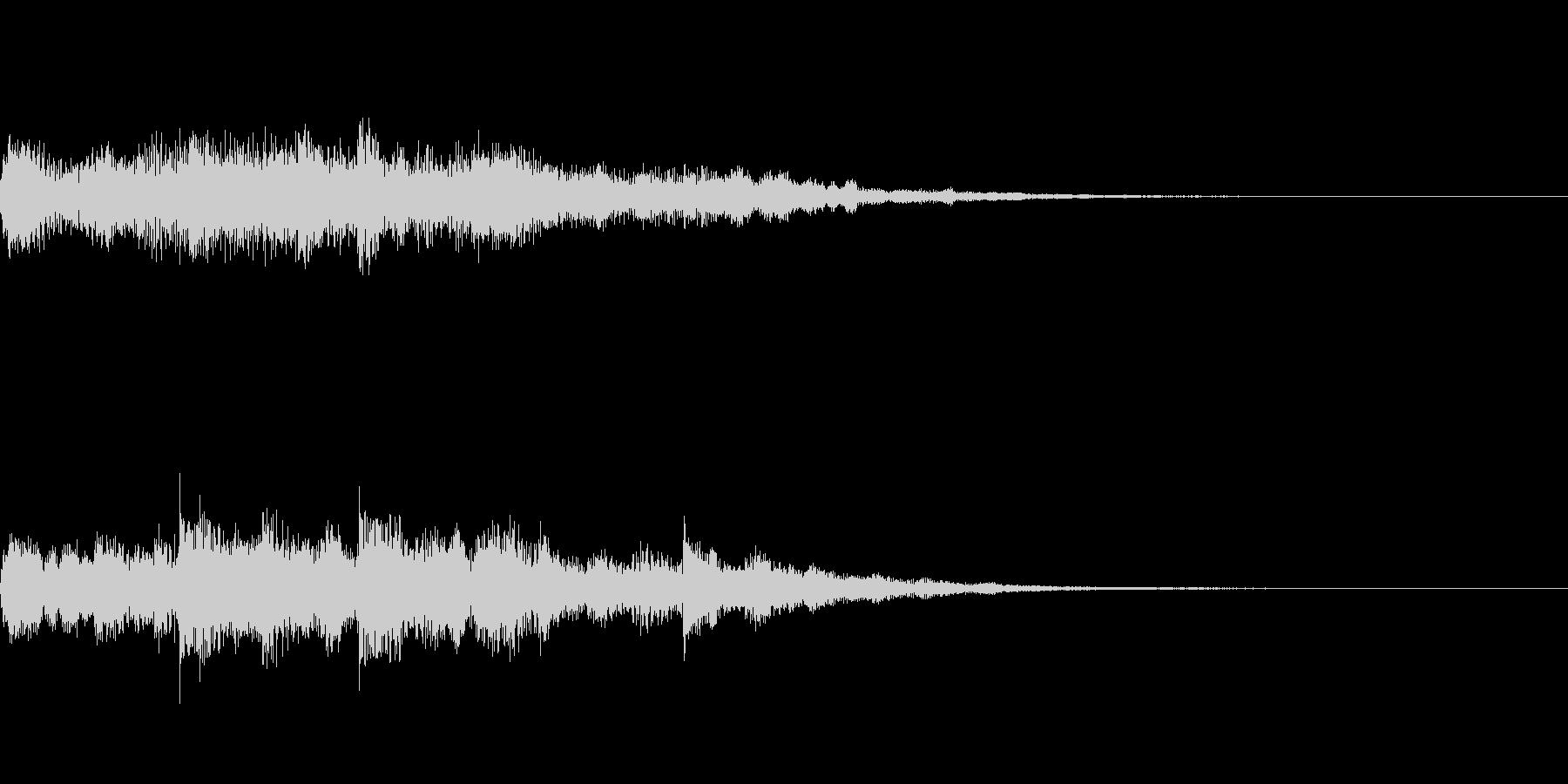 包容感のあるスタートアップ音の未再生の波形