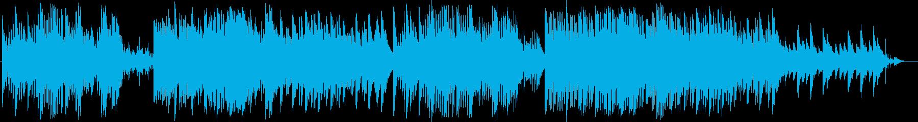 明るくキラキラしたリラックスBGMの再生済みの波形