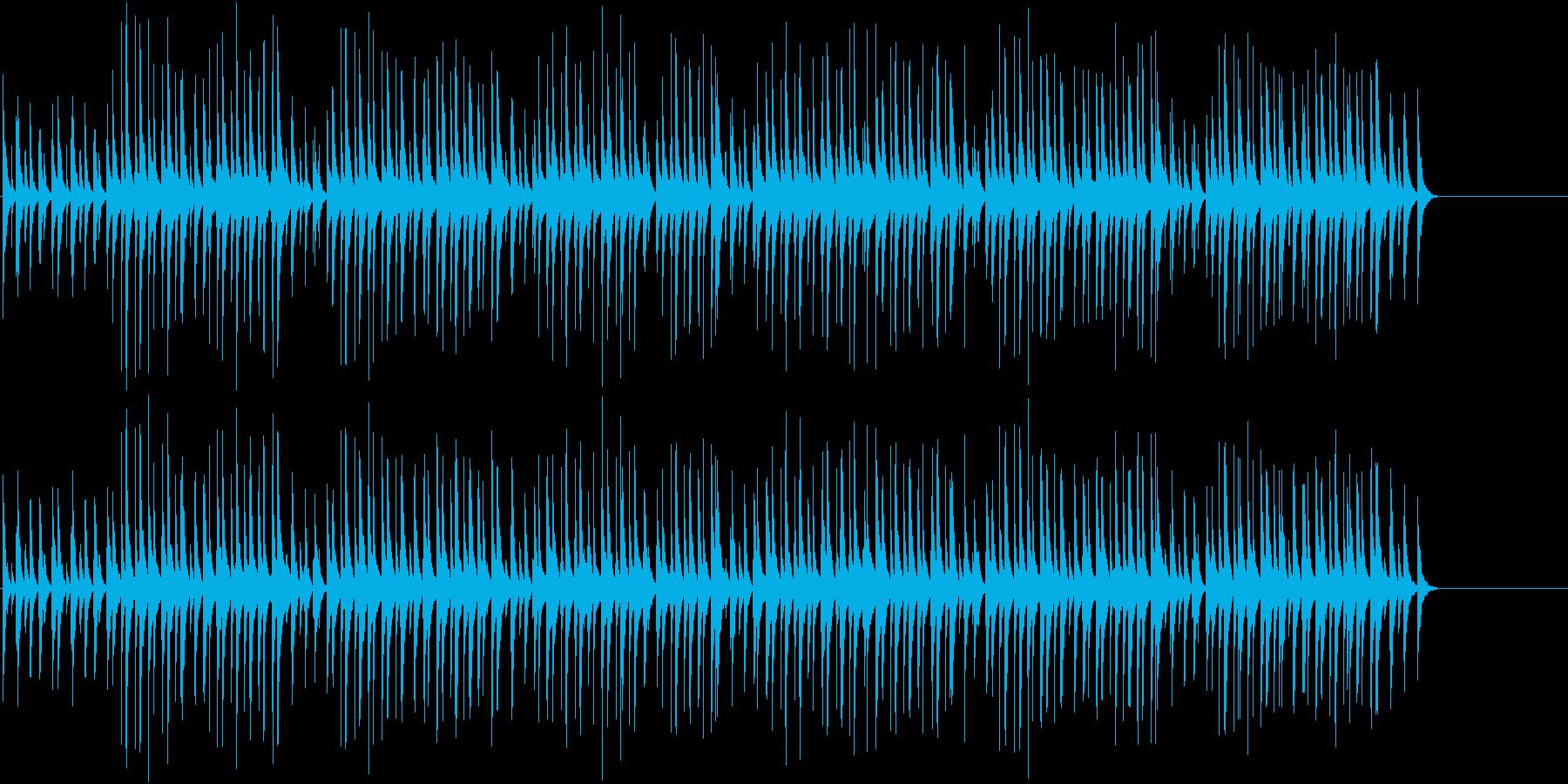 日本のお祭りっぽいおちゃらけたBGMの再生済みの波形