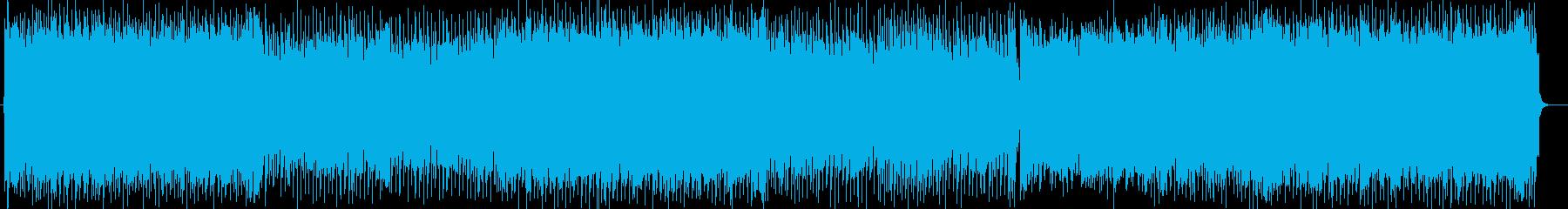 シンセサイザーの爽やかなポップスの再生済みの波形