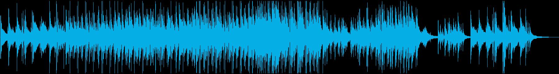 童謡『茶摘み』のおしゃれピアノトリオの再生済みの波形