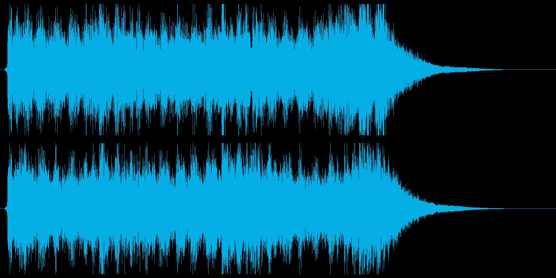 シンセとクワイヤーのサウンドロゴの再生済みの波形
