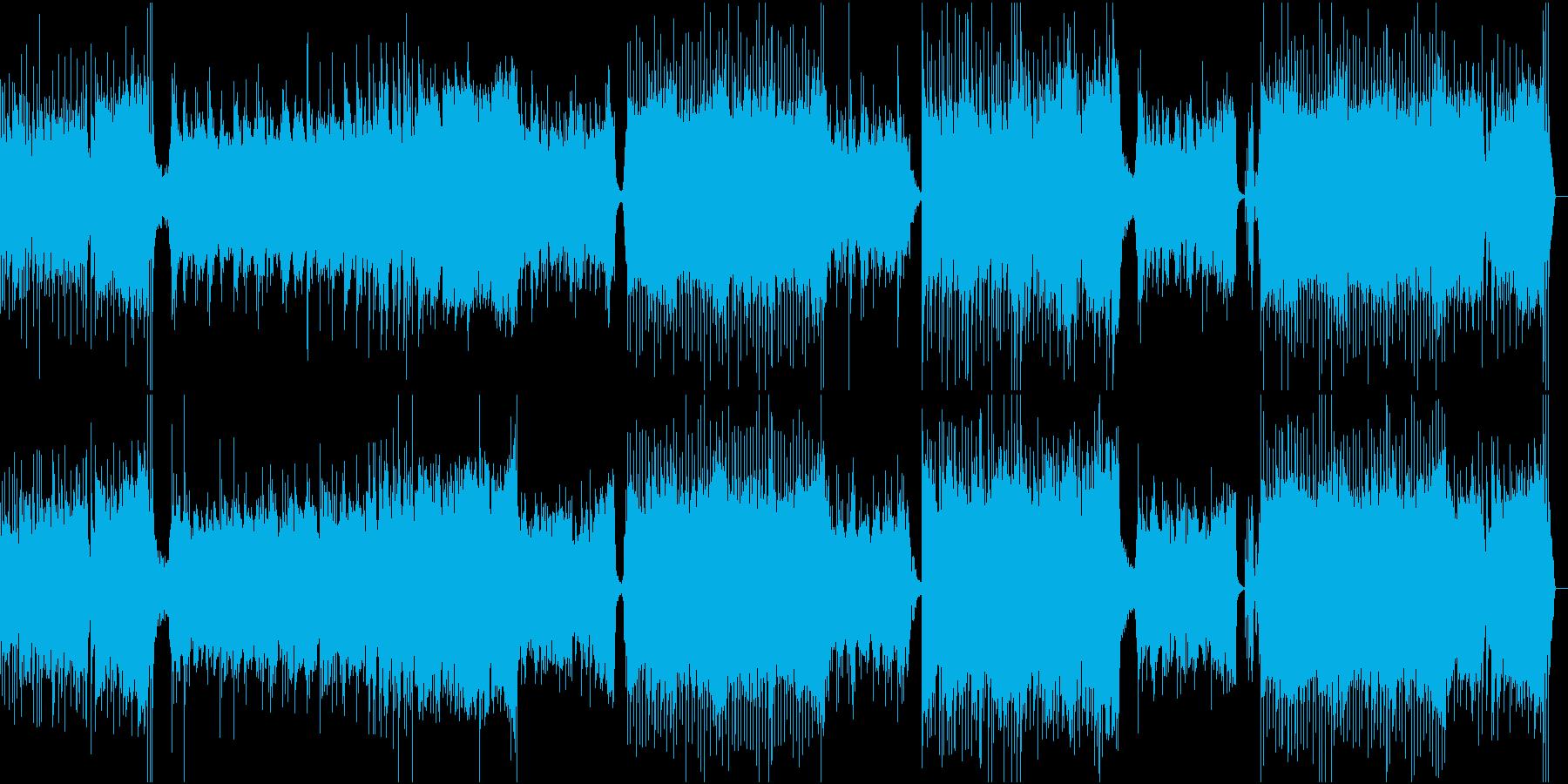 壮大な宇宙的浮遊感をイメージした曲の再生済みの波形