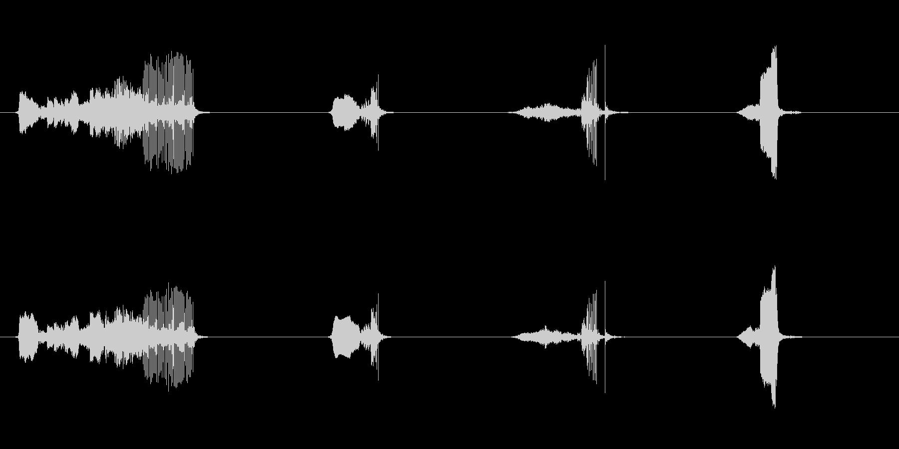 ドアウッドクリークシャープx4の未再生の波形