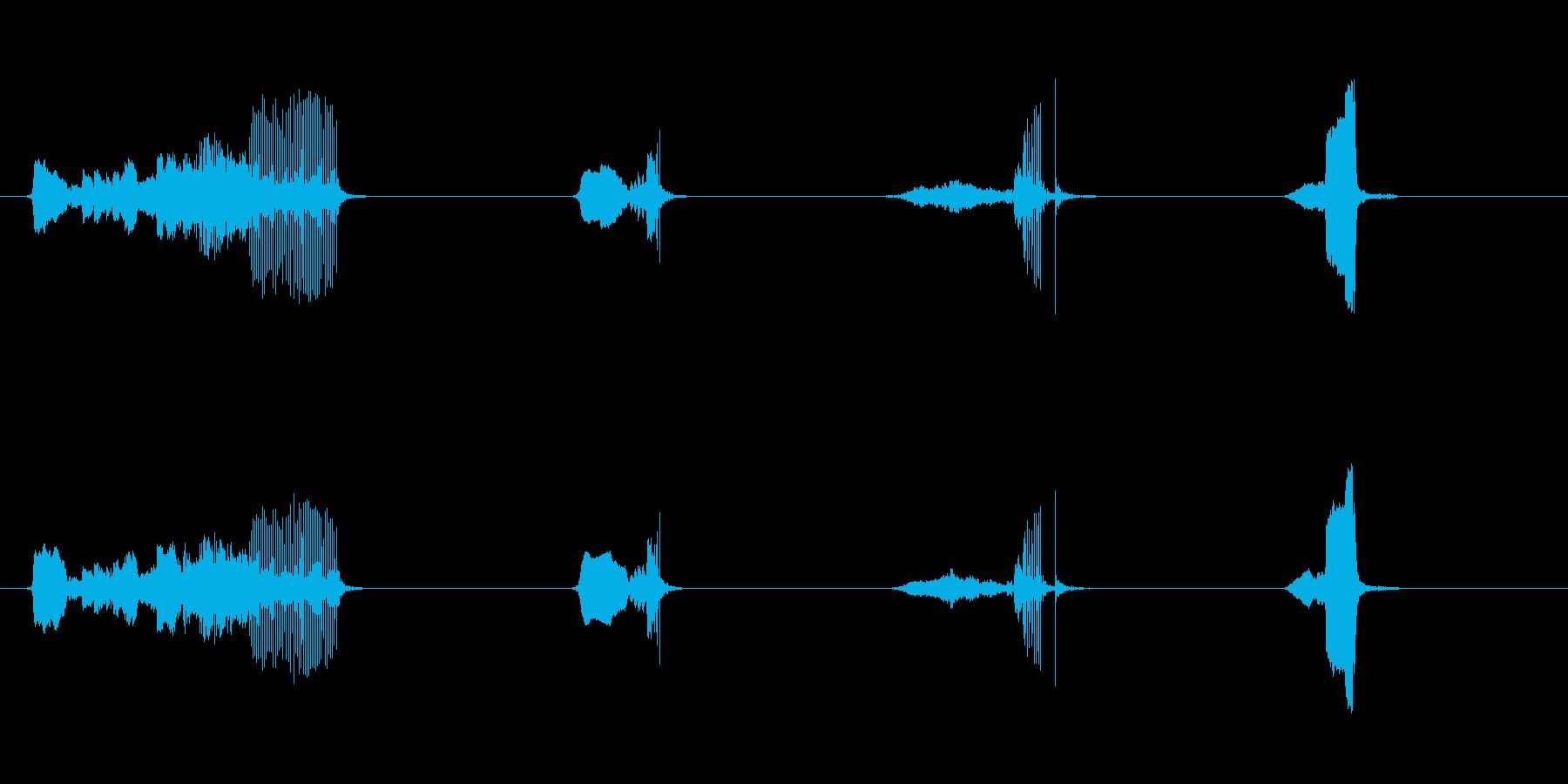 ドアウッドクリークシャープx4の再生済みの波形