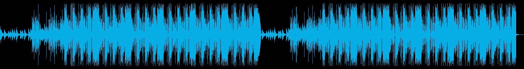 さすらいの一匹狼トラップビート曲の再生済みの波形