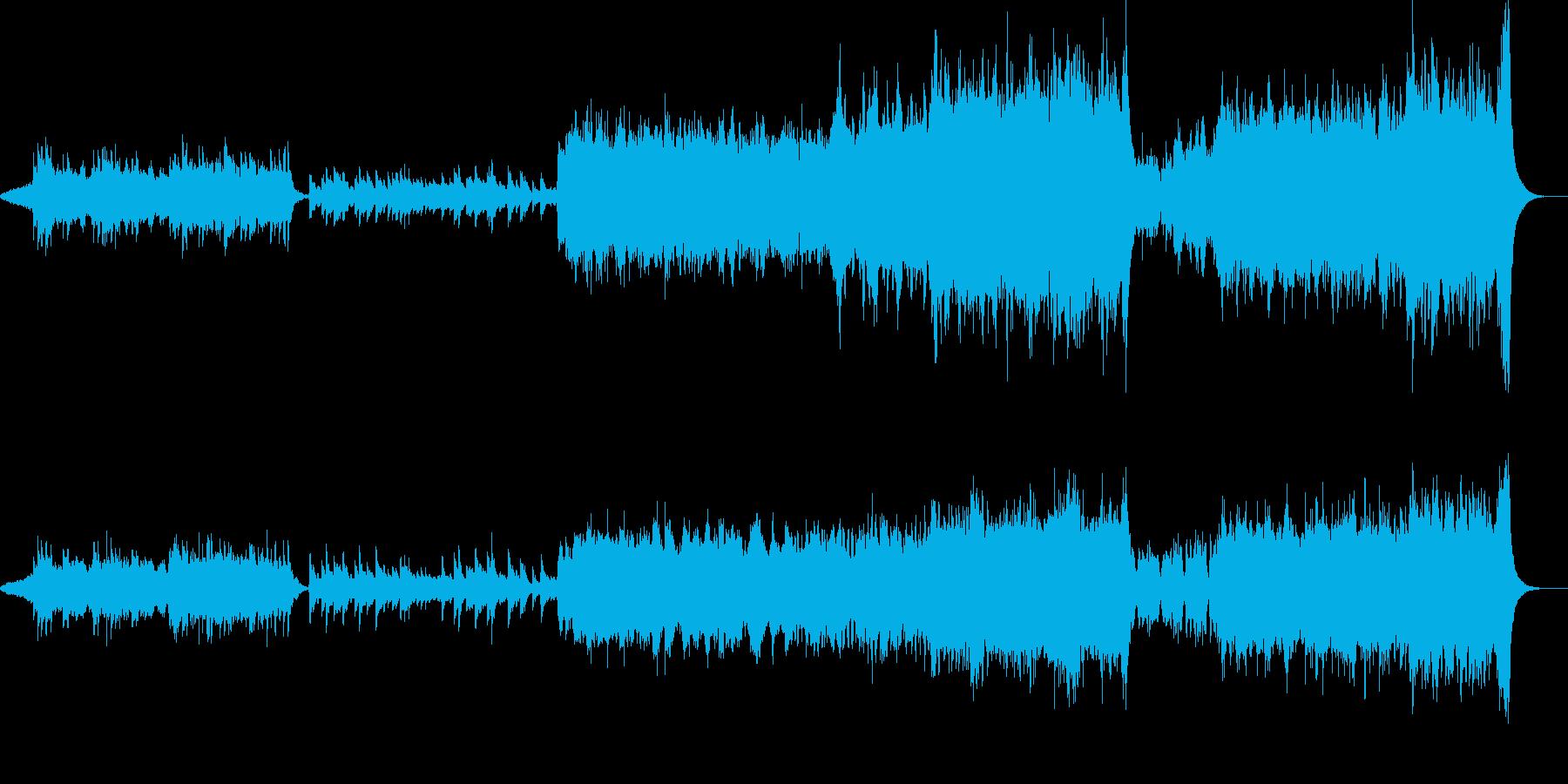 少々ダークなピアノとオーケストラの再生済みの波形