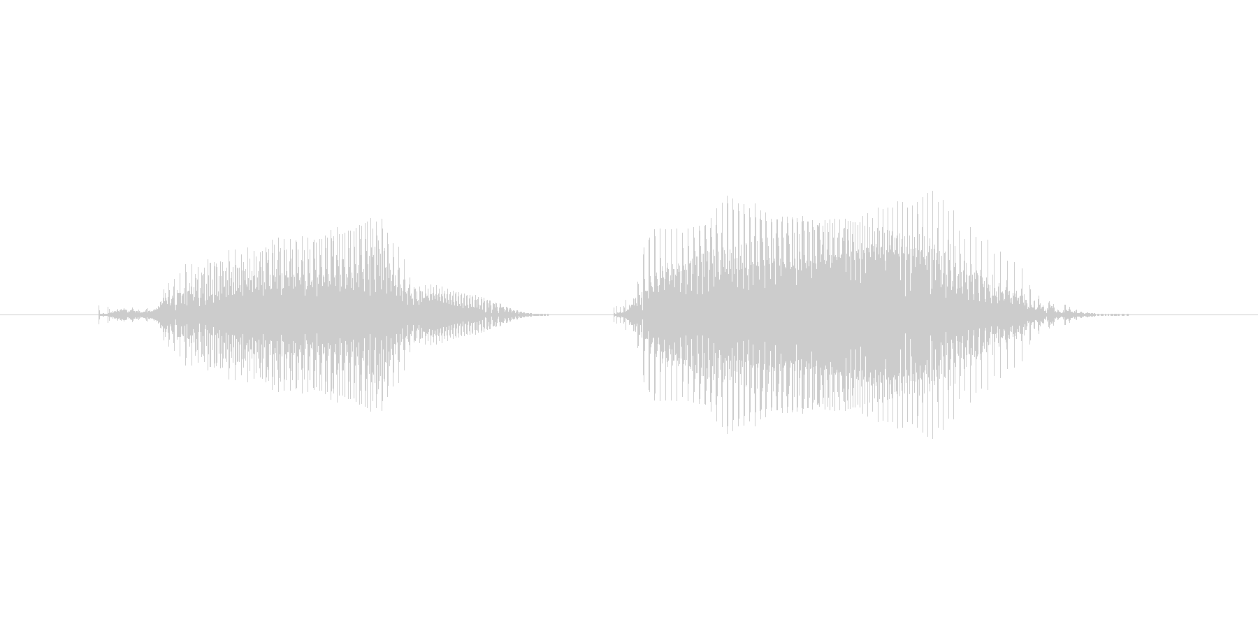 プンプン2(女性、子供)の未再生の波形