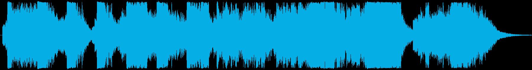 女性コーラスとソロによる厳かな挿入歌の再生済みの波形