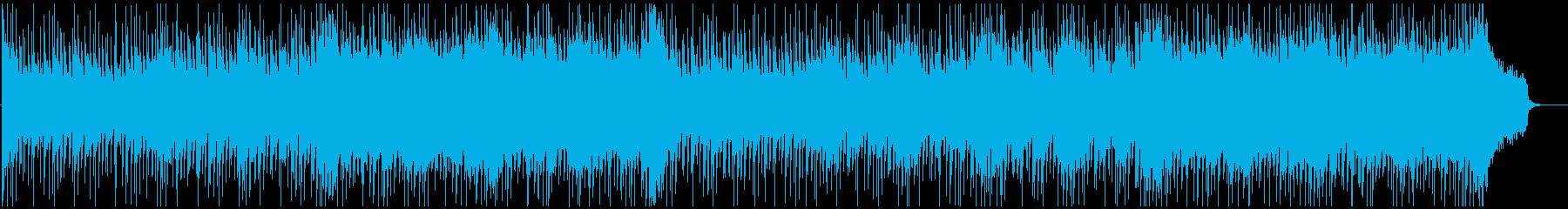 緊迫な雰囲気が停滞するストリングスBGMの再生済みの波形