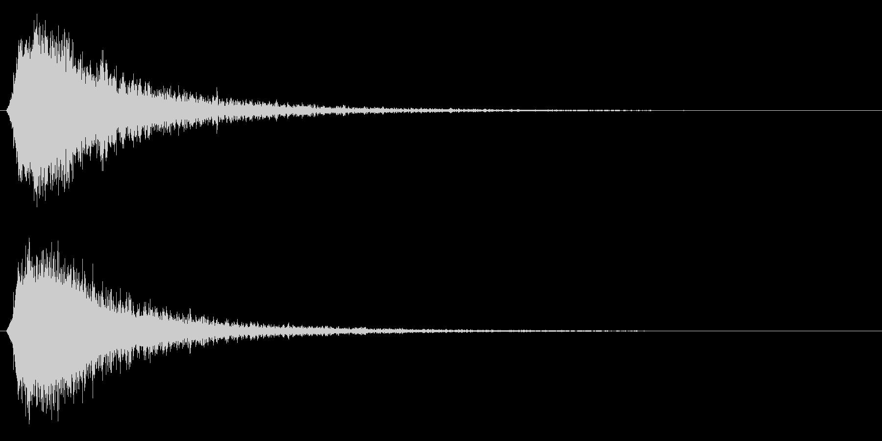 シャキーン!強烈なインパクト効果音3CVの未再生の波形