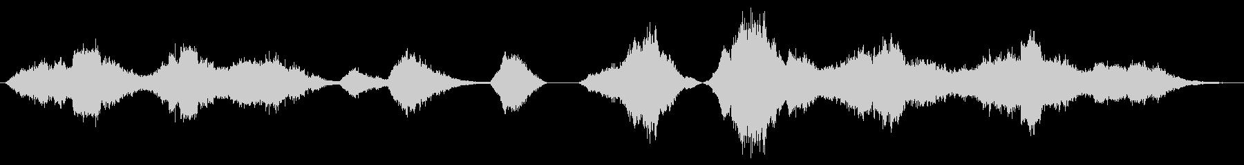 効果音的なホラーアンビエントBGMの未再生の波形
