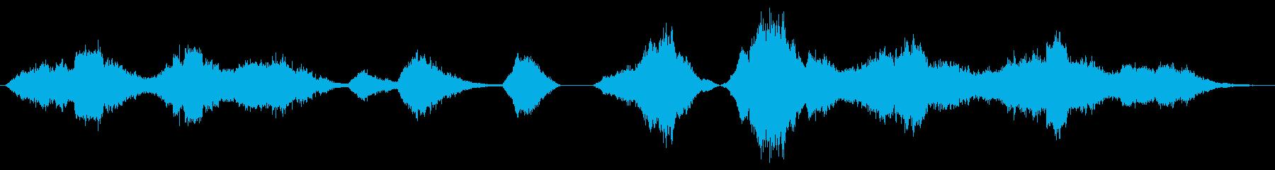 効果音的なホラーアンビエントBGMの再生済みの波形