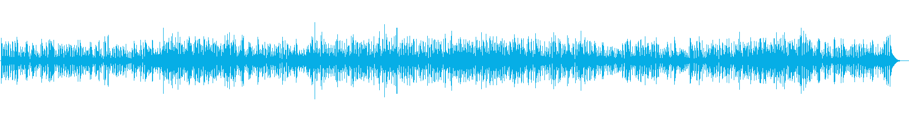 疾走感あふれるジャズの再生済みの波形
