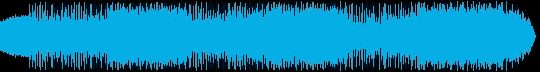 代替ポップロック。高騰ポジティブな隆起。の再生済みの波形