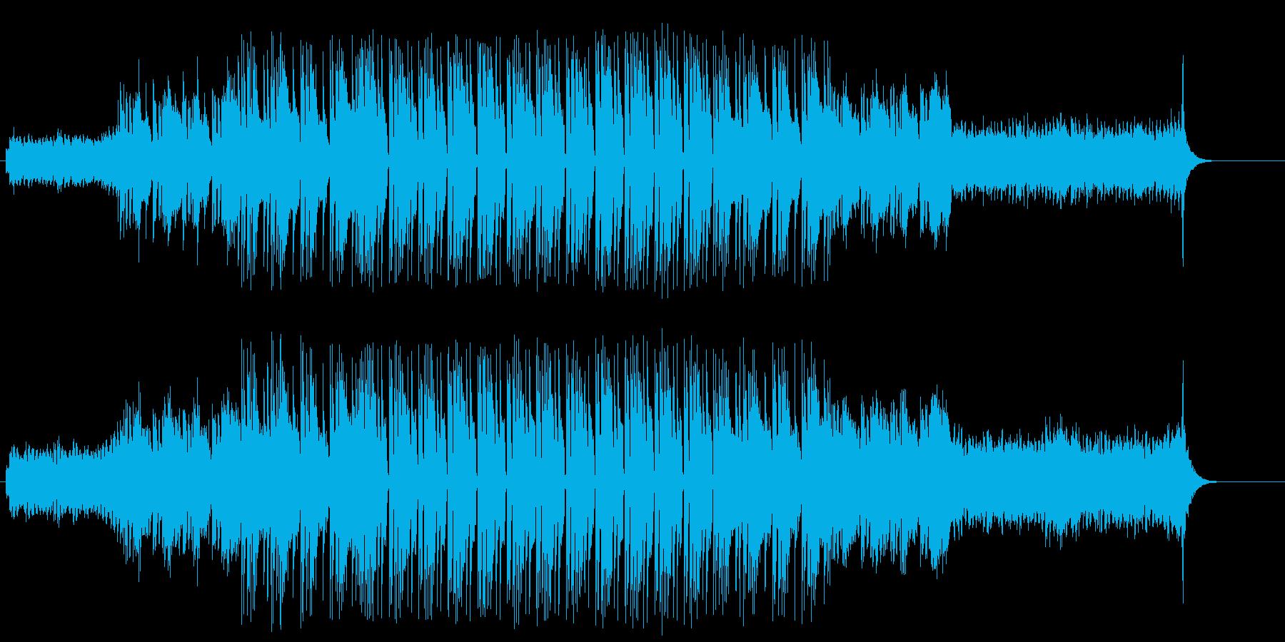 怪しげなマイナー・エレクトリックBGMの再生済みの波形