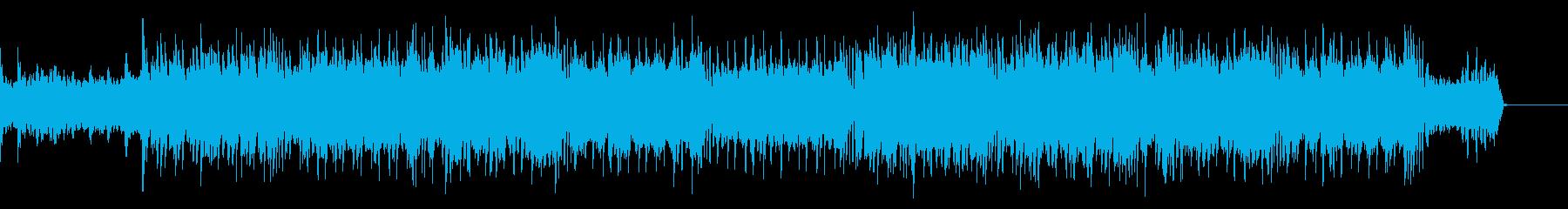 懐かしい横スクロールシュー音楽の再生済みの波形