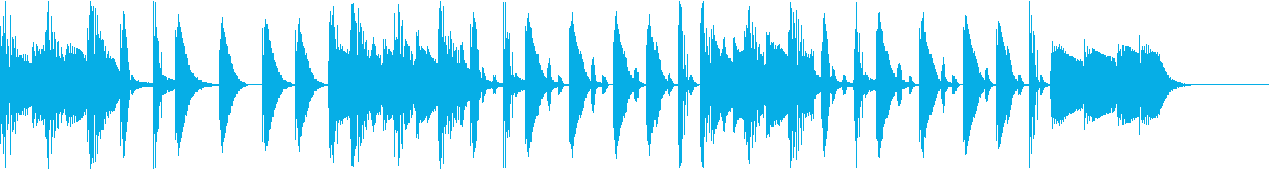 ゆったりとしたBGMの再生済みの波形
