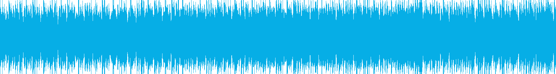 ハードでビート感の強いサイバーなループ曲の再生済みの波形