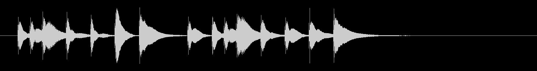 明るく可愛らしい木琴のジングル4の未再生の波形