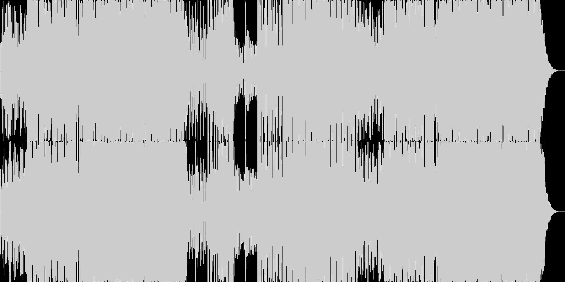 哀愁漂うゆったりEDM系ロックの未再生の波形