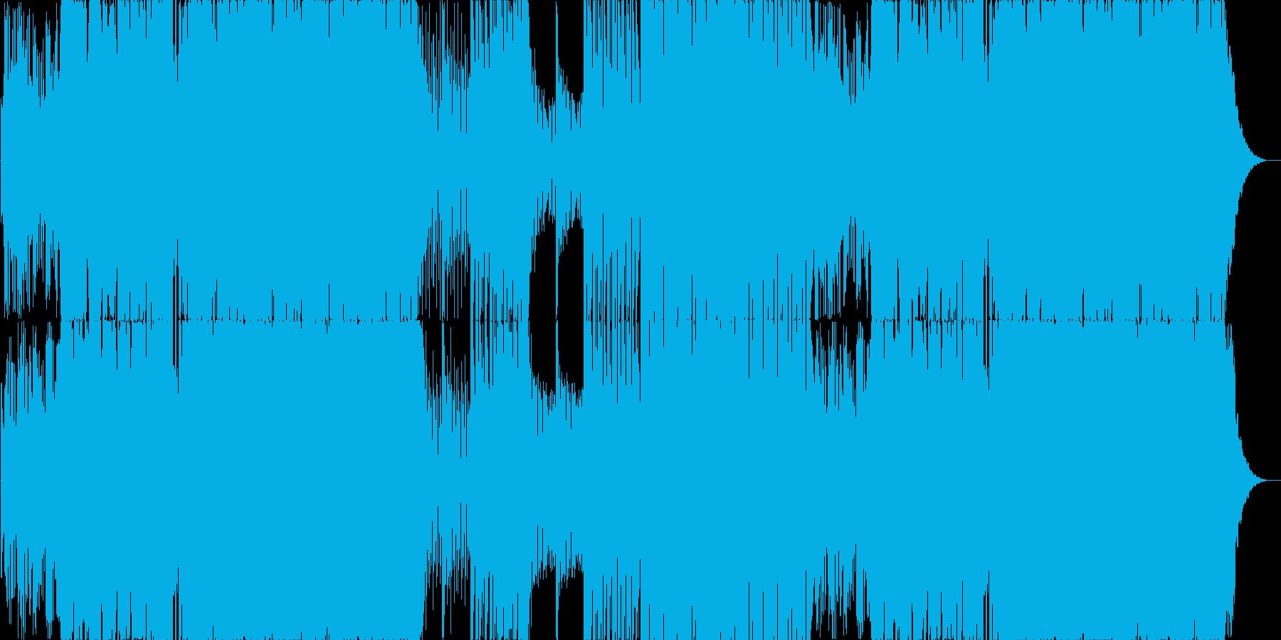 哀愁漂うゆったりEDM系ロックの再生済みの波形