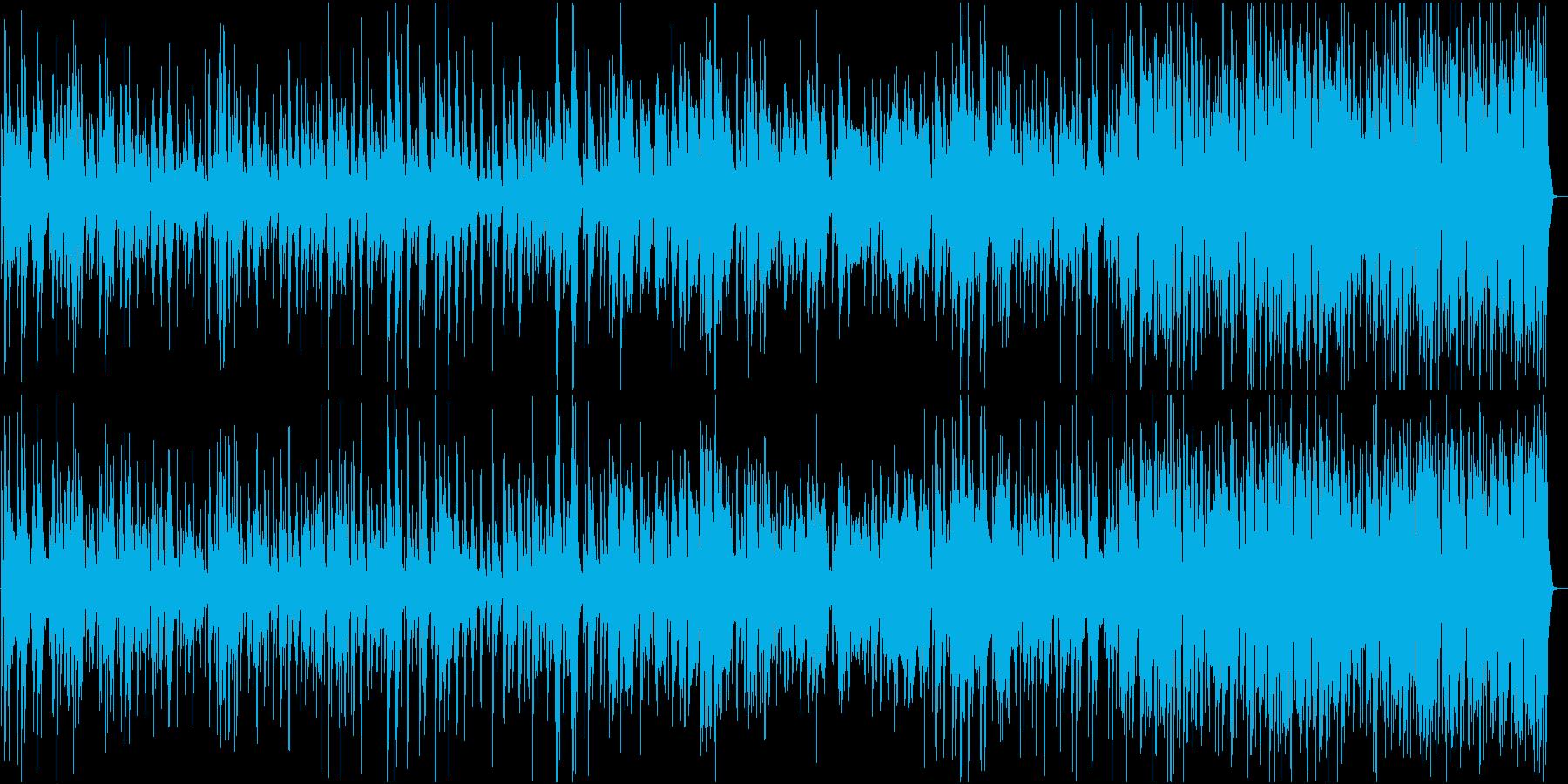 ピアノとドラムベースのトラッドジャズの再生済みの波形