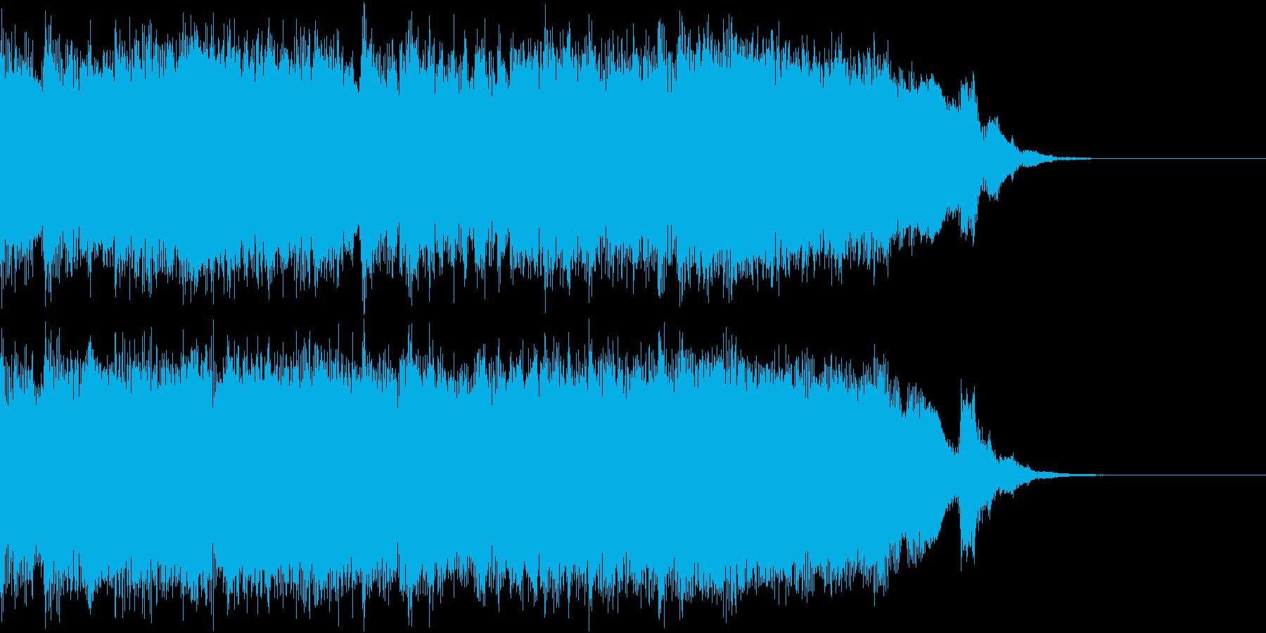アメリカ風ロック ジングル 明るいの再生済みの波形