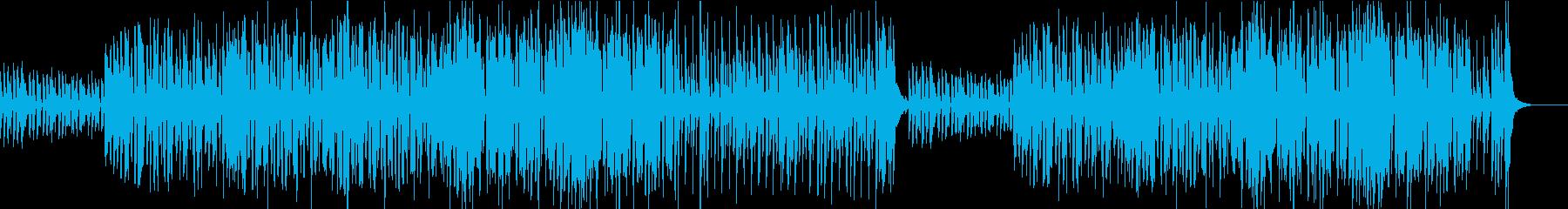 陽気で明るく軽快な口笛のブラスジャズの再生済みの波形