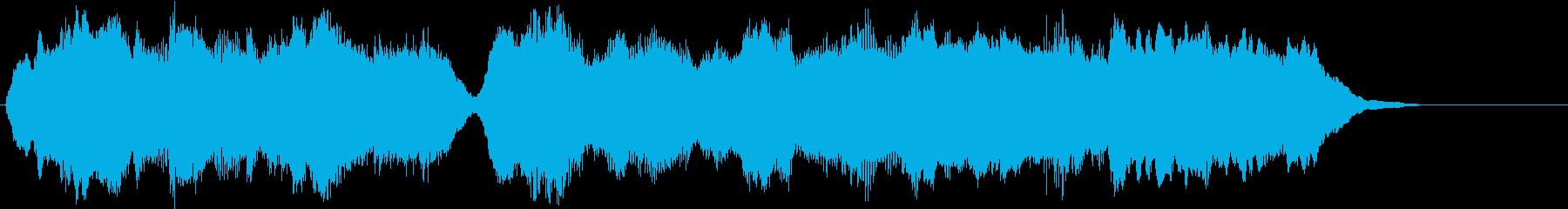 金管のみを使ったファンファーレ2の再生済みの波形