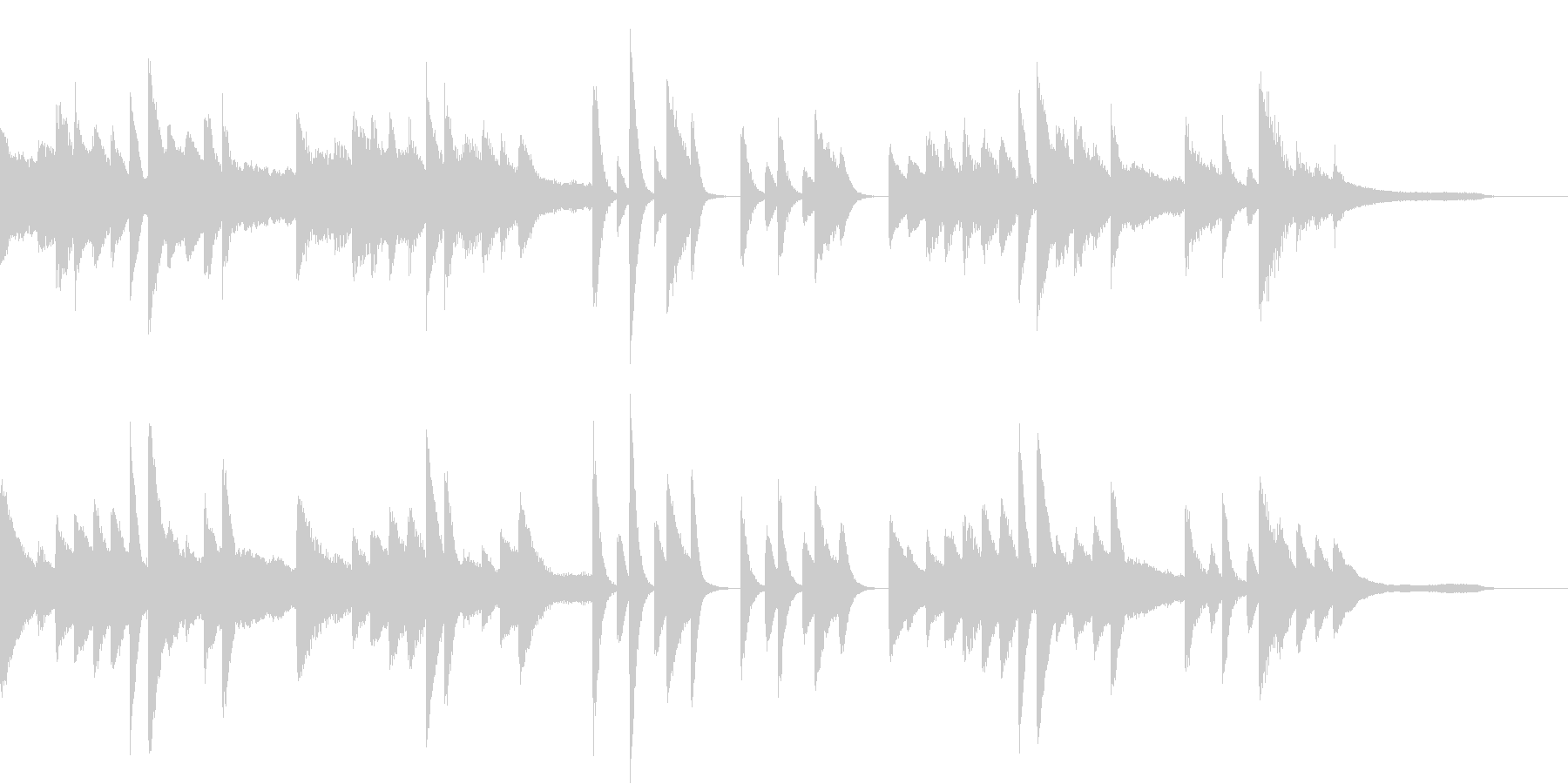 2種類のリズムを使った夏のピアノジングルの未再生の波形