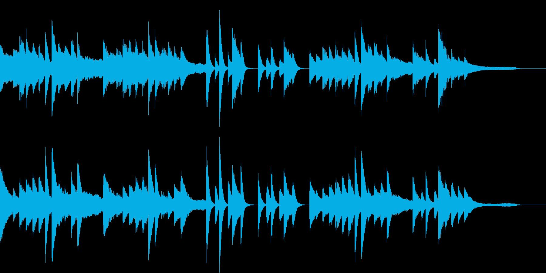 2種類のリズムを使った夏のピアノジングルの再生済みの波形