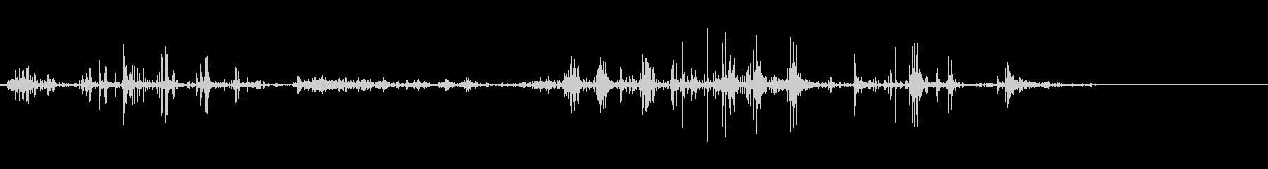 ベリベリベリベリ(物をちぎる音)の未再生の波形