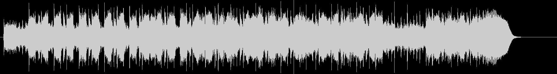 ポップでゆったりとしたメローなBGMの未再生の波形