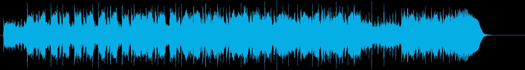 ポップでゆったりとしたメローなBGMの再生済みの波形