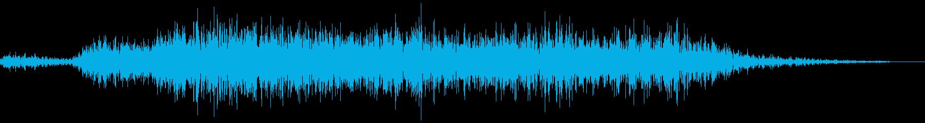 シュー(スプレーを吹く音)の再生済みの波形
