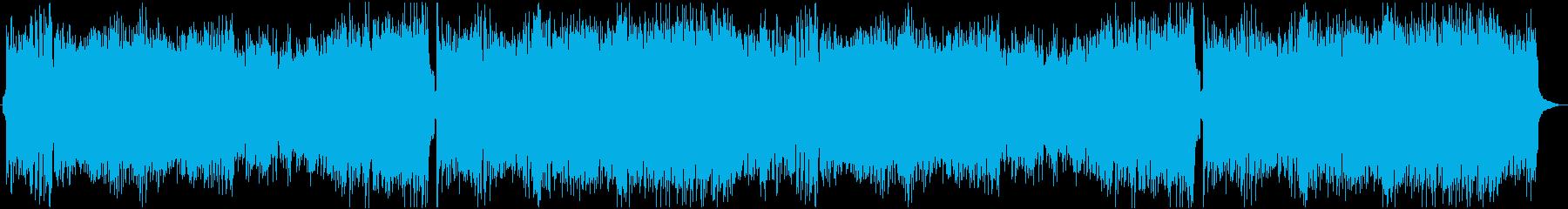 スピード感のある戦闘曲の再生済みの波形