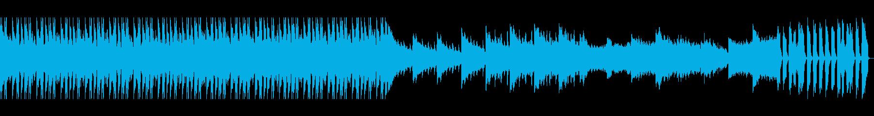 ピアノやシンセで夏の星空をイメージした曲の再生済みの波形