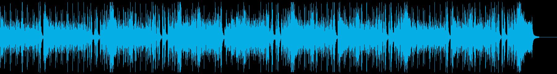 明るく楽しいロックンロールギターピアノ抜の再生済みの波形