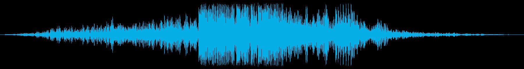 離調した爆発性宇宙の地上への影響の再生済みの波形