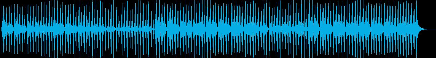 三味線と太鼓のシンプルな和風曲。の再生済みの波形