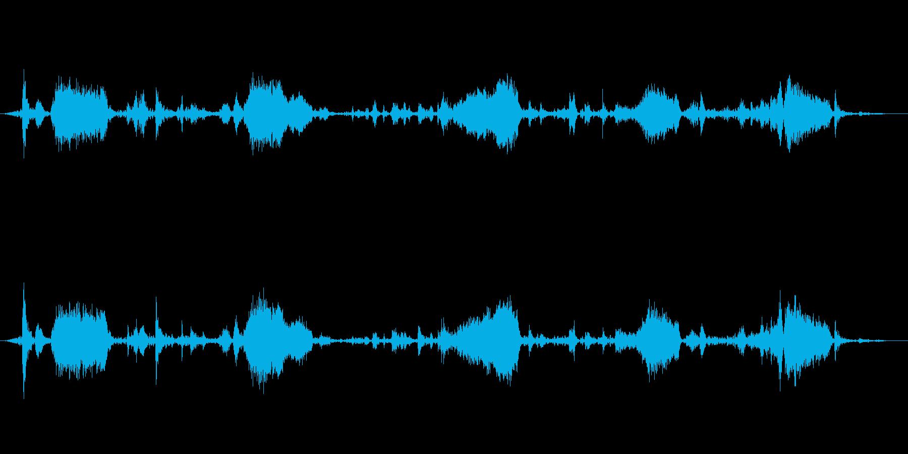手lakeぎボートの湖(オールきしみ)の再生済みの波形