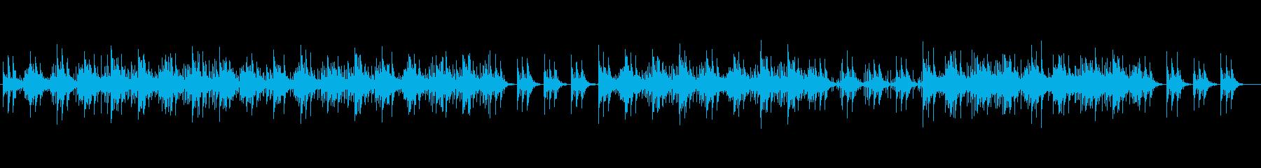 企業PV向け静かでおしゃれな曲の再生済みの波形