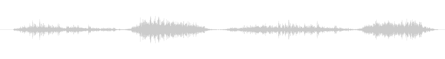 ハンドソー切断木材(短い動き)の未再生の波形